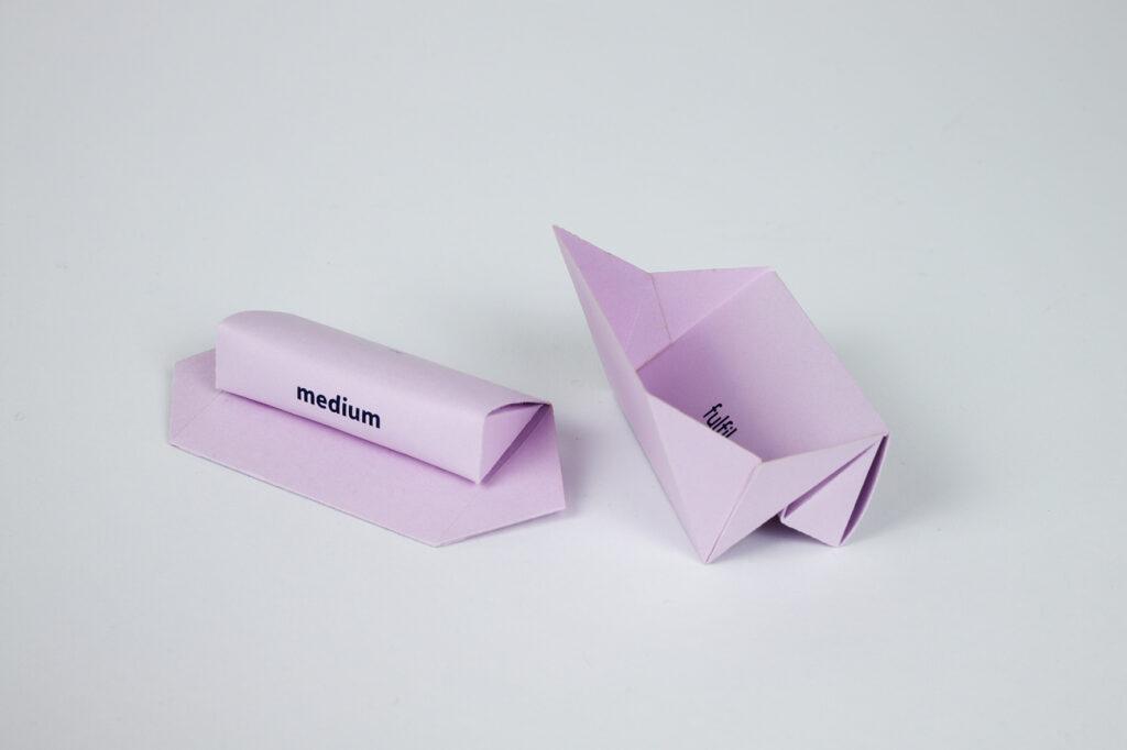 Die nachhaltige Tampon-Verpackung aus Recyclingkarton.