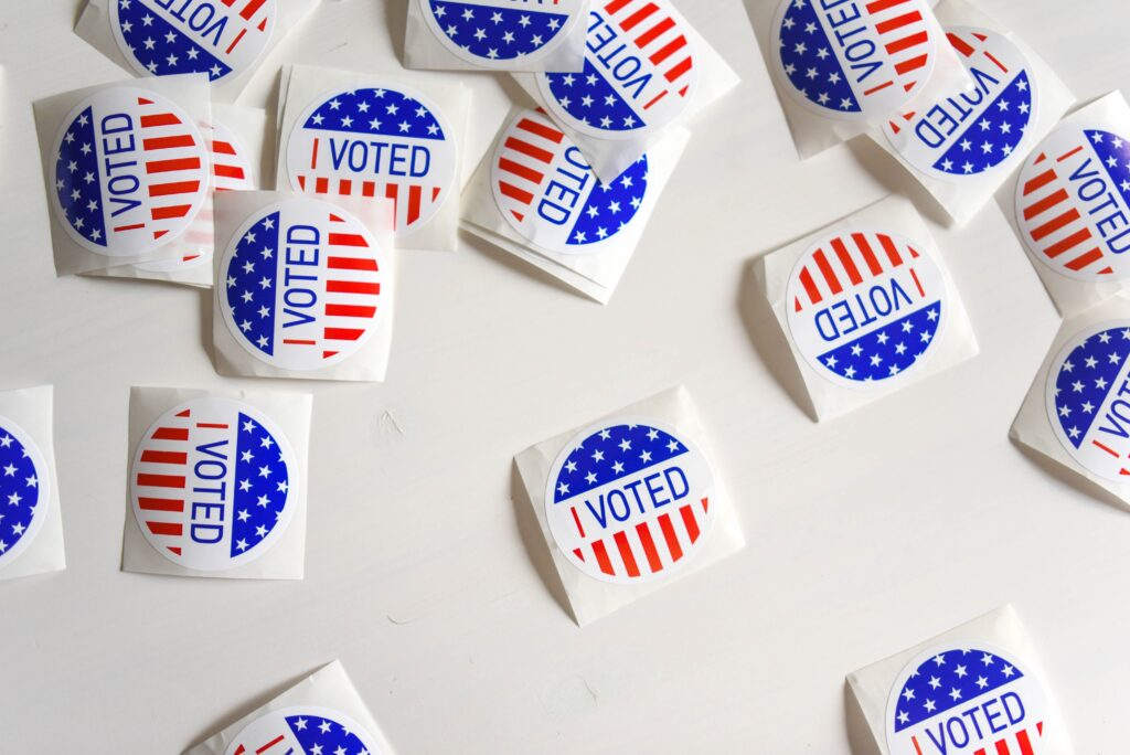 I Voted-Sticker zur US Wahl