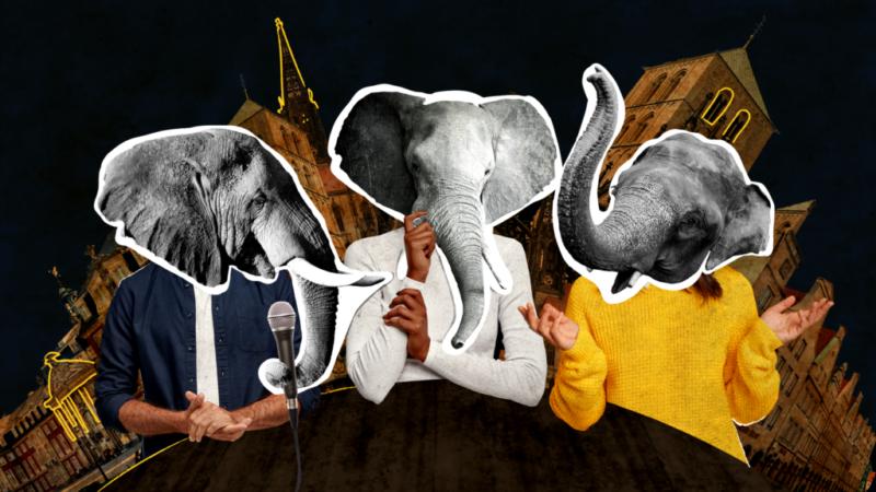 Elefantenrunde Illustration 2021 Uni Münster StuPa-Wahl Studierendenparlament