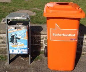 Müllverschmutzung in Münster